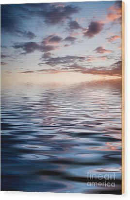 Sunset With Reflection Wood Print by Kati Molin