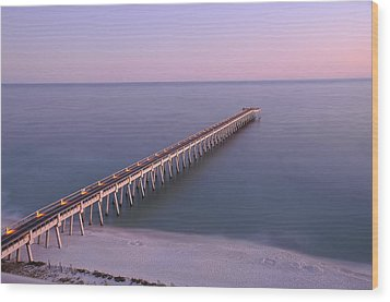 Wood Print featuring the photograph Sunsetting On The Pier by Renee Hardison