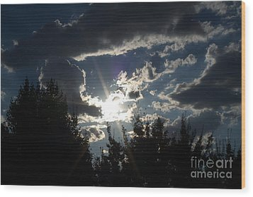 Sunshine Always Returns Wood Print