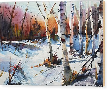 Sunshine And Birch Wood Print