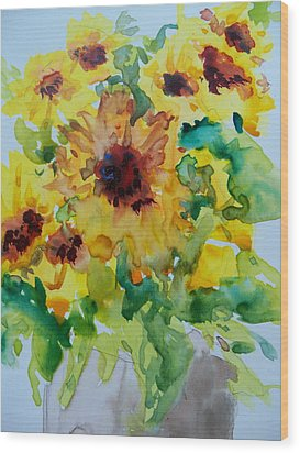 Sunshine Bright Wood Print by Sandy Collier