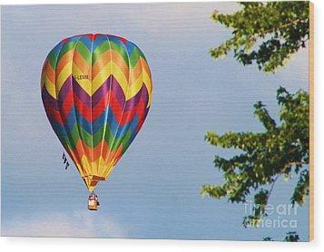 Sunshine On Balloon Wood Print