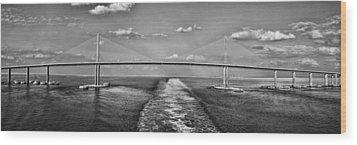 Sunshine Skyway Bridge Wood Print by Gordon Engebretson