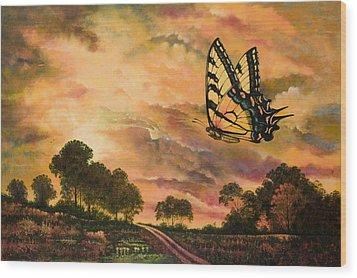 Sunshine Traveler-swallowtail Wood Print by Michael Frank