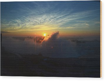 Wood Print featuring the photograph Sunsrise At Niagara by Pravine Chester