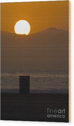 Sunst Over Malibu  Wood Print by Micah May