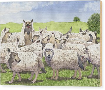 Super Pac Wood Print by Catherine G McElroy