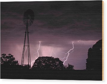 Super Storm Wood Print