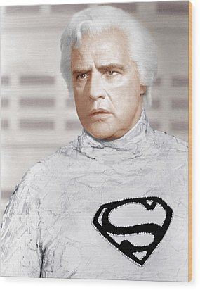 Superman, Marlon Brando, 1978 Wood Print by Everett