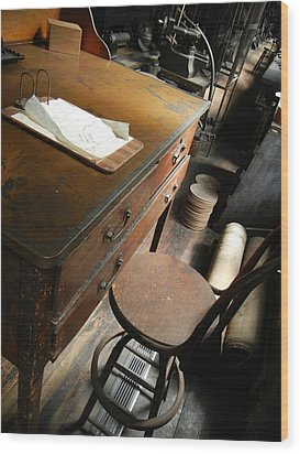Supervisors Desk Wood Print by Jackie Stier
