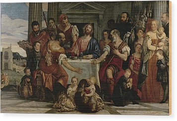 Supper At Emmaus Wood Print by Veronese