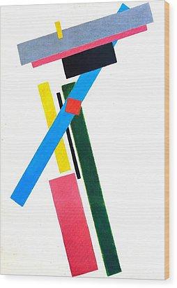 Suprematism Wood Print by Kazimir Severinovich Malevich