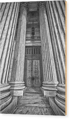 Supreme Court Building 11 Wood Print by Val Black Russian Tourchin