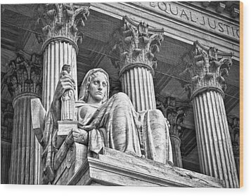 Supreme Court Building 15 Wood Print by Val Black Russian Tourchin