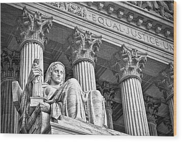 Supreme Court Building 17 Wood Print by Val Black Russian Tourchin