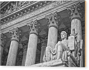 Supreme Court Building 18 Wood Print by Val Black Russian Tourchin