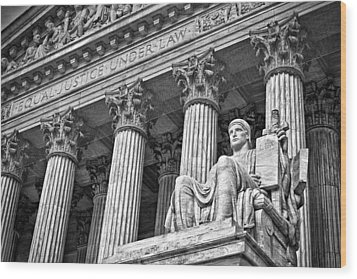 Supreme Court Building 19 Wood Print by Val Black Russian Tourchin