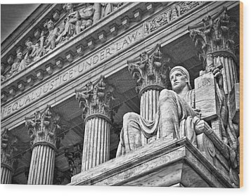 Supreme Court Building 20 Wood Print by Val Black Russian Tourchin