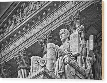 Supreme Court Building 21 Wood Print by Val Black Russian Tourchin