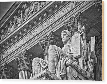Supreme Court Building 22 Wood Print by Val Black Russian Tourchin