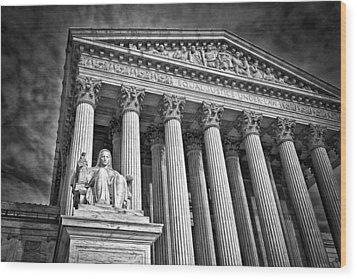 Supreme Court Building 6 Wood Print by Val Black Russian Tourchin