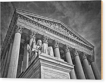 Supreme Court Building 7 Wood Print by Val Black Russian Tourchin