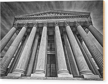 Supreme Court Building 8 Wood Print by Val Black Russian Tourchin