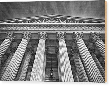 Supreme Court Building 9 Wood Print by Val Black Russian Tourchin