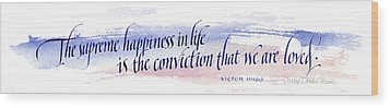 Supreme Happiness I Wood Print by Judy Dodds