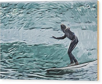 Surf Wood Print by Tilly Williams