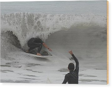 Surfing 209 Wood Print by Joyce StJames