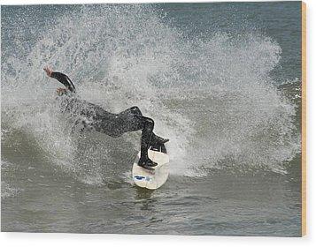 Surfing 396 Wood Print by Joyce StJames
