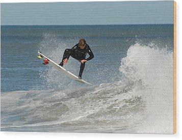 Surfing 399 Wood Print by Joyce StJames