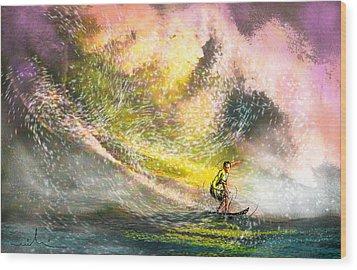 Surfscape 02 Wood Print by Miki De Goodaboom