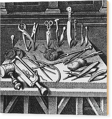 Surgical Equipment, 16th Century Wood Print by Science Source