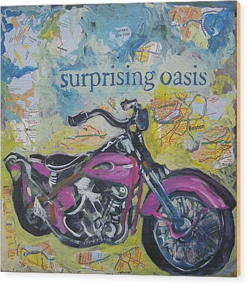 Surprising Oasis Wood Print by Tilly Strauss