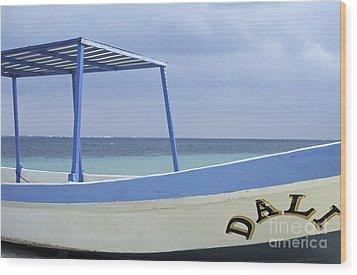Wood Print featuring the photograph Surrealist Fishing Boat Riviera Maya Mexico by John  Mitchell