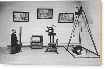 Surveillance Equipment, 19th Century Wood Print by Science Source