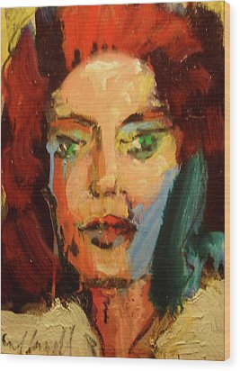 Wood Print featuring the painting Susan by Les Leffingwell