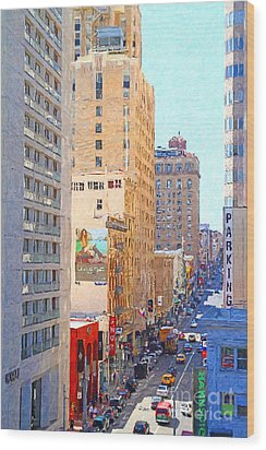Sutter Street San Francisco Wood Print by Wingsdomain Art and Photography