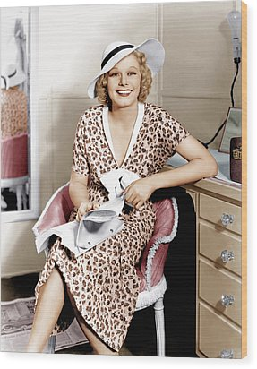 Suzy, Jean Harlow, 1936 Wood Print by Everett