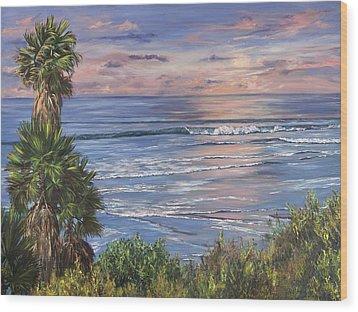 Swamis Sunset Wood Print by Lisa Reinhardt