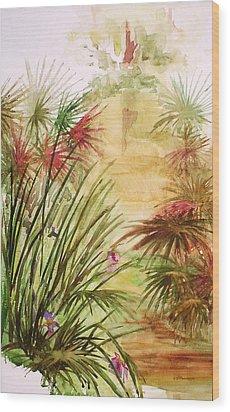 Swamp Iris Wood Print