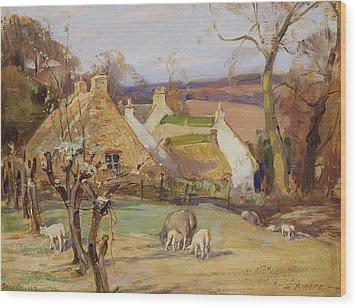 Swanston Farm Wood Print by Robert Hope