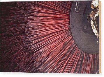 Sweeper Wood Print