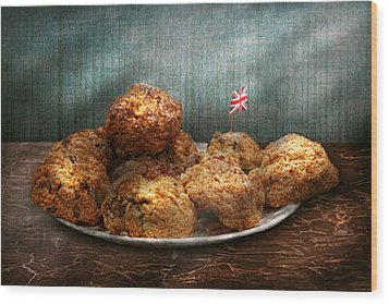 Sweet - Scone - Scones Anyone Wood Print by Mike Savad