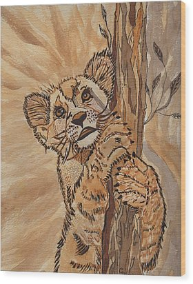 Sweet Baby Wood Print by Connie Valasco