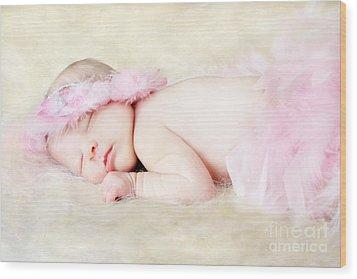 Sweet Baby Girl Wood Print by Darren Fisher