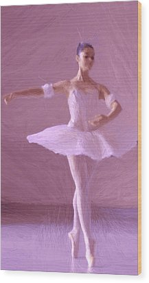 Sweet Ballerina Wood Print by Steve K
