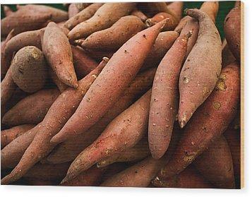 Sweet Potatoes Wood Print by Tanya Harrison